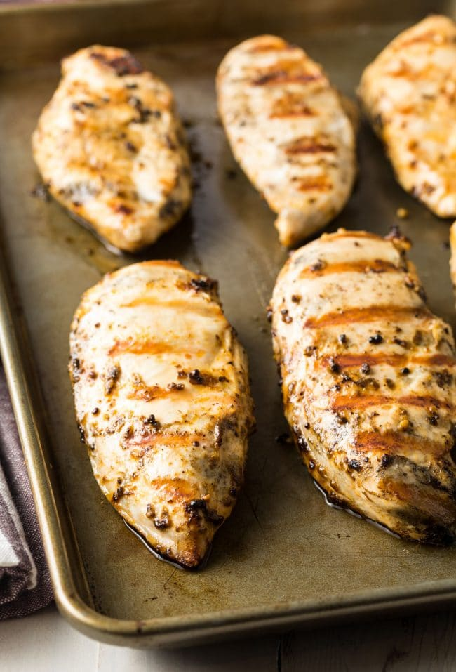 The BEST 4-Ingredient Magic Chicken Breast Recipe #ASpicyPerspective #chicken #grilled #baked