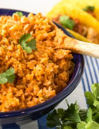4-Ingredient Spanish Rice Recipe (Mexican Rice - Arroz Rojo) #ASpicyPerspective #rice #mexican #spanish