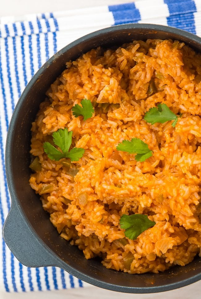 Authentic 4-Ingredient Spanish Rice Recipe (Mexican Rice - Arroz Rojo) #ASpicyPerspective #rice #mexican #spanish