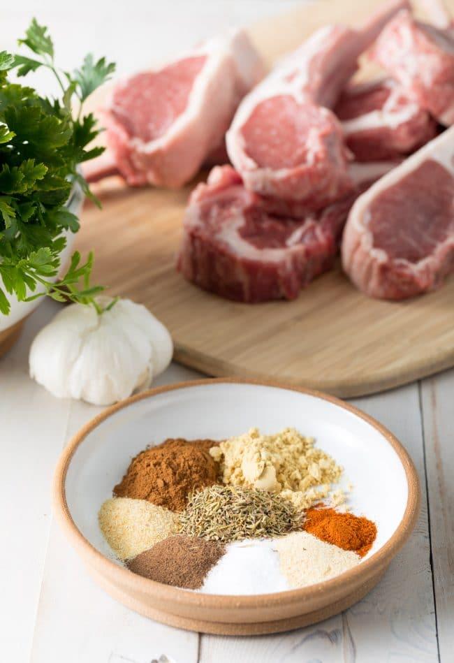 Making Caribbean Grilled Lamb Chops with Wasakaka Sauce Recipe #ASpicyPerspective #keto #paleo #lowcarb #glutenfree