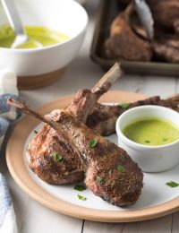 Caribbean Grilled Lamb Chops with Wasakaka Sauce Recipe #ASpicyPerspective #keto #paleo #lowcarb #glutenfree