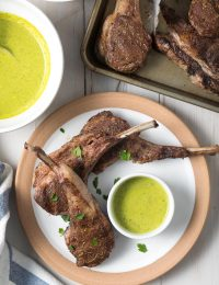 Zesty Caribbean Grilled Lamb Chops with Wasakaka Sauce Recipe #ASpicyPerspective #keto #paleo #lowcarb #glutenfree