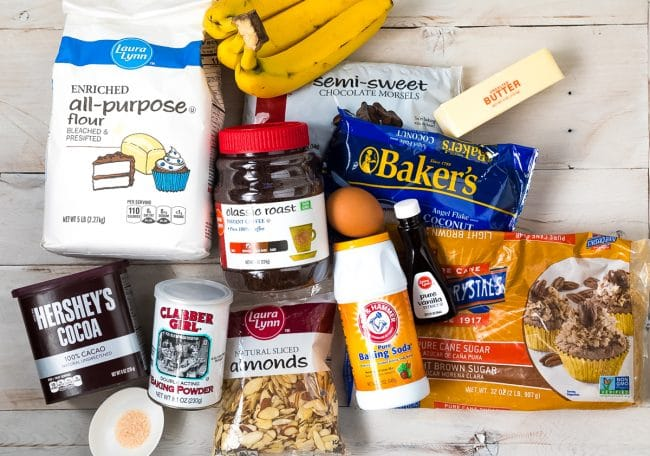 Chunky Chocolate Banana Bread Recipe Ingredients