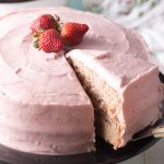 Fresh Strawberry Cake From Scratch Recipe #ASpicyPerspective #cake #strawberry #strawberries #easter #july4th