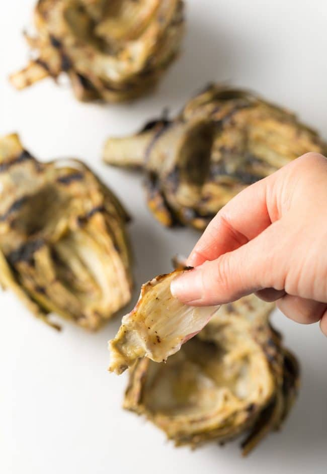 Perfect Grilled Artichokes with Miso Butter Recipe #ASpicyPerspective #lowcarb #howto #artichoke