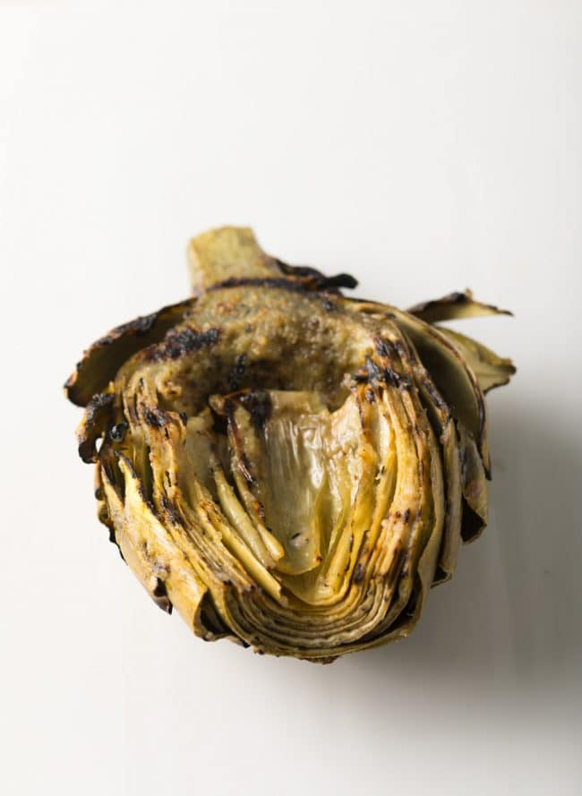 Easy Grilled Artichokes with Miso Butter Recipe #ASpicyPerspective #lowcarb #howto #artichoke