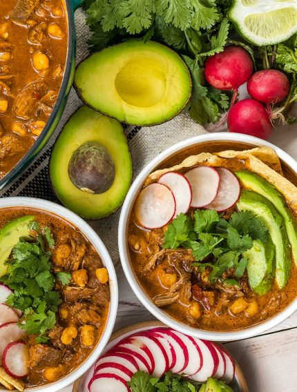 Red Posole Recipe with Pork (Pozole Rojo) #ASpicyPerspective #mexican #pork #pozole #posole #stew #soup