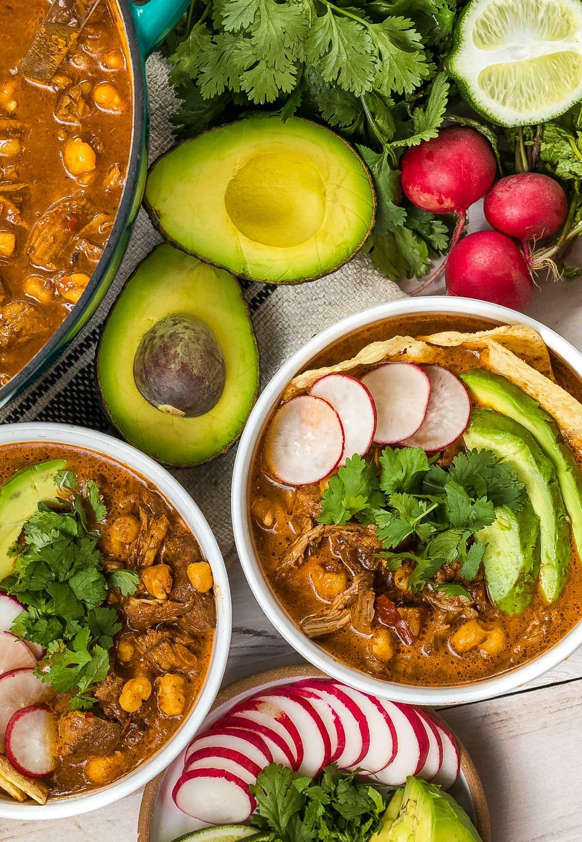 Red Posole Recipe with Pork (Pozole Rojo) #ASpicyPerspective #mexican #pork #pozole #posole #stew #soup