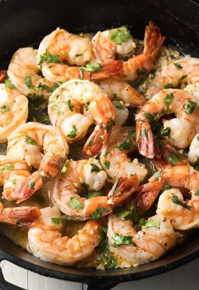 Cilantro Lime Shrimp Recipe (Stovetop or Instant Pot!) #ASpicyPerspective #instantpot #pressurecooker #onepot #pasta #shrimp