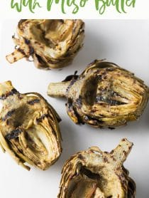 Amazing Grilled Artichokes with Miso Butter Recipe #ASpicyPerspective #lowcarb #howto #artichoke