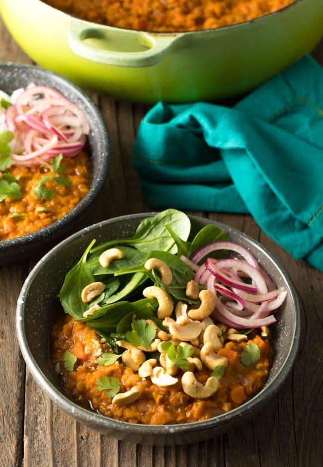 Healthy Red Lentil Curry Recipe (Gluten Free & Vegan!) #ASpicyPerspective #curry #thai #glutenfree #vegan