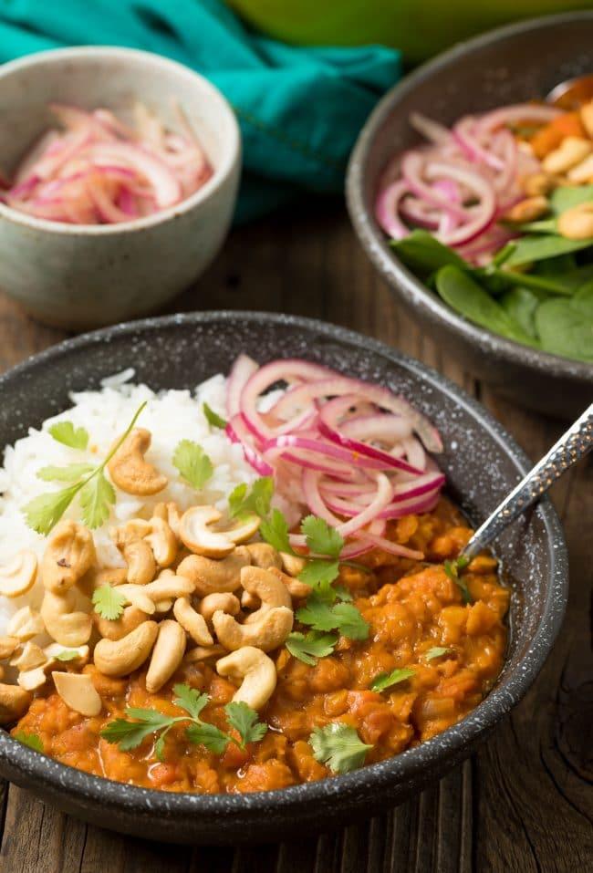 Best Red Lentil Curry Recipe (Gluten Free & Vegan!) #ASpicyPerspective #curry #thai #glutenfree #vegan