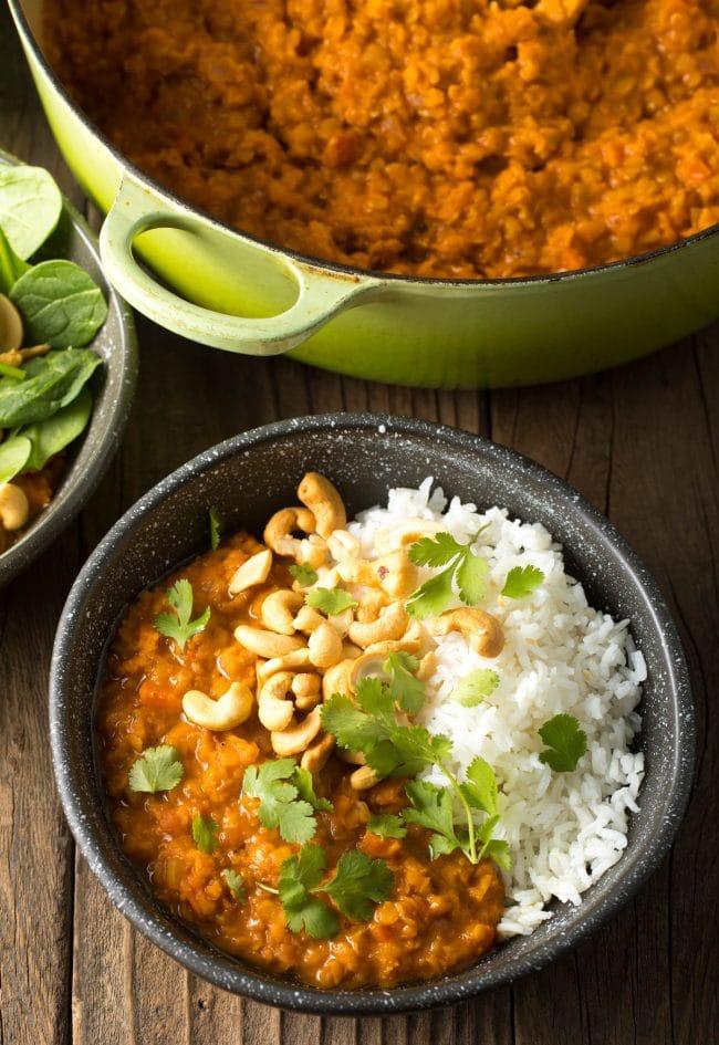 Most Irresistible Red Lentil Curry Recipe (Gluten Free & Vegan!) #ASpicyPerspective #curry #thai #glutenfree #vegan