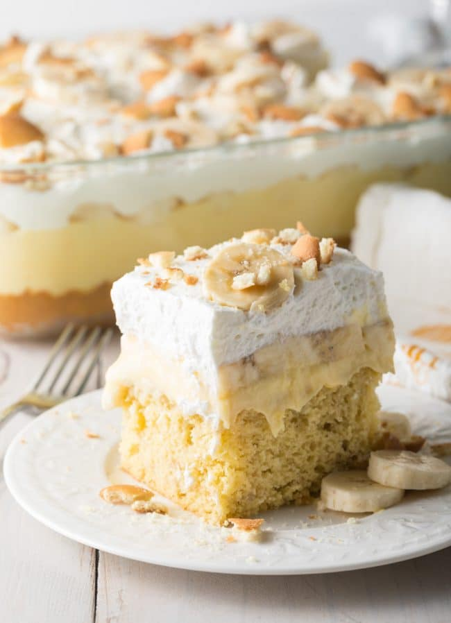 Best Banana Pudding Bake Recipe #ASpicyPerspective #easter #bananacake #spring #potluck #picnic