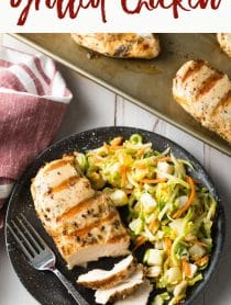 Easy 4-Ingredient Magic Chicken Breast Recipe #ASpicyPerspective #chicken #grilled #baked