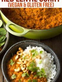 Irresistible Cozy Red Lentil Curry Recipe (Gluten Free & Vegan!) #ASpicyPerspective #curry #thai #glutenfree #vegan