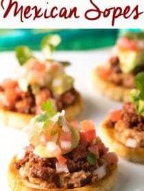 How To Make The Most Amazing Mexican Sopes: This easy Authentic Sopes Recipe makes the most amazing Sopes ever! #mexican #cincodemayo #ASpicyPerspective