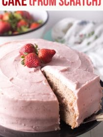 Perfect Strawberry Cake From Scratch Recipe #ASpicyPerspective #cake #strawberry #strawberries #easter #july4th