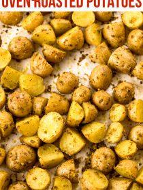 2-Ingredient Oven Roasted Potatoes Recipe #ASpicyPerspective #potato #glutenfree #side #sidedish #roasted