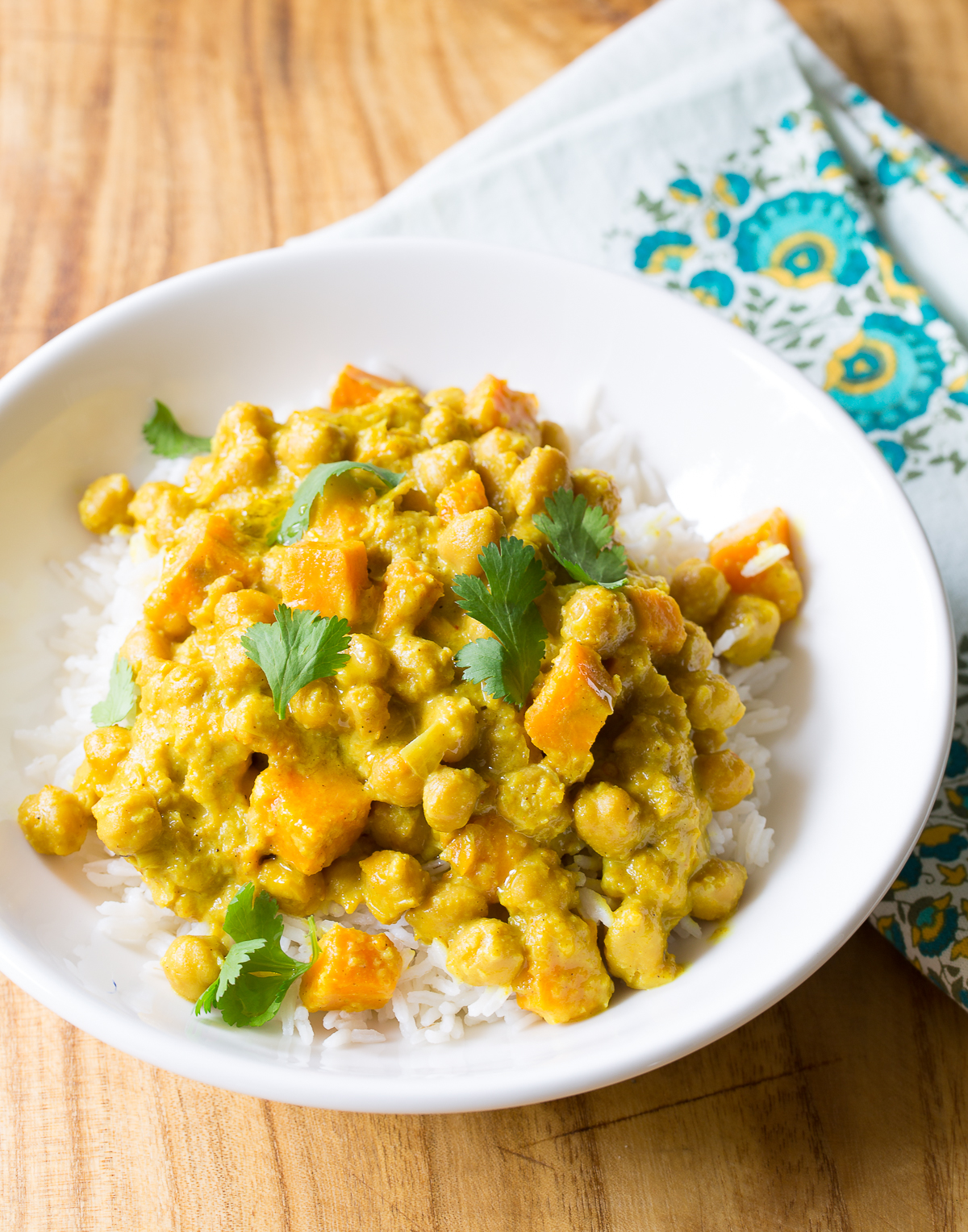 Crockpot Chickpea Curry Recipe #ASpicyPerspective #SlowCooker #Crockpot #Chickpea #Curry #ChickpeaCurry #ChickpeaCurryRecipe #CrockpotCurry #IndianCurry #Indian #GlutenFree