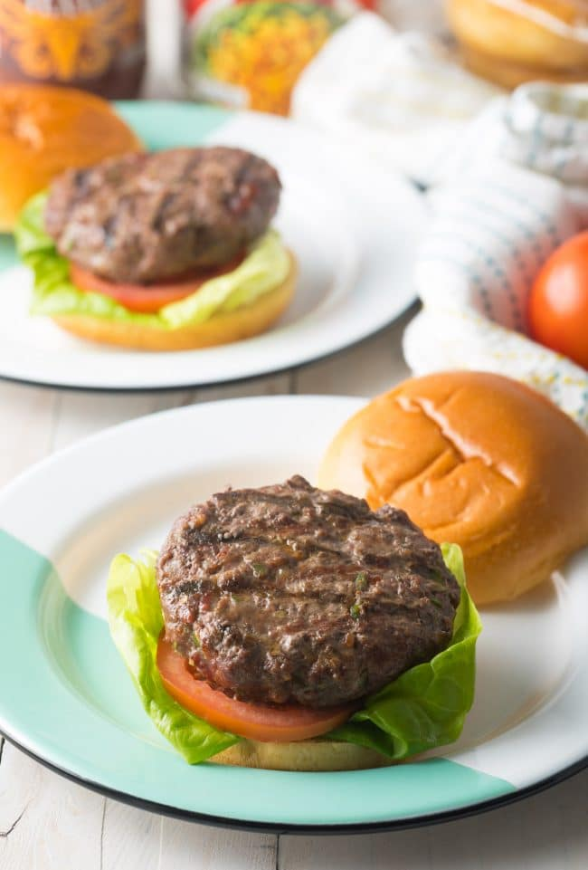 Cowboy Burgers Recipe #ASpicyPerspective #bacon #burgers #hamburgers #cowboy #bbq