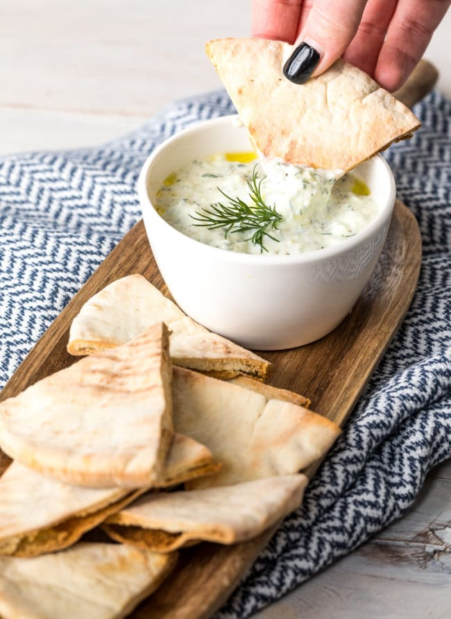 Best Tzatziki Dip (Recipe) #Vegetarian #GlutenFree #LowCarb #Keto
