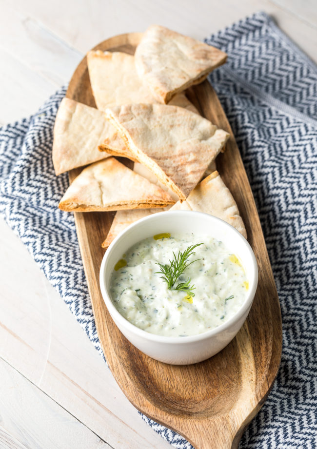 Easy Tzatziki Sauce (Recipe) #Vegetarian #GlutenFree #LowCarb #Keto