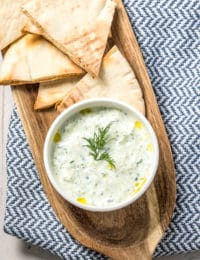 How To Make The Best Tzatziki Sauce (Recipe) #Vegetarian #GlutenFree #LowCarb #Keto