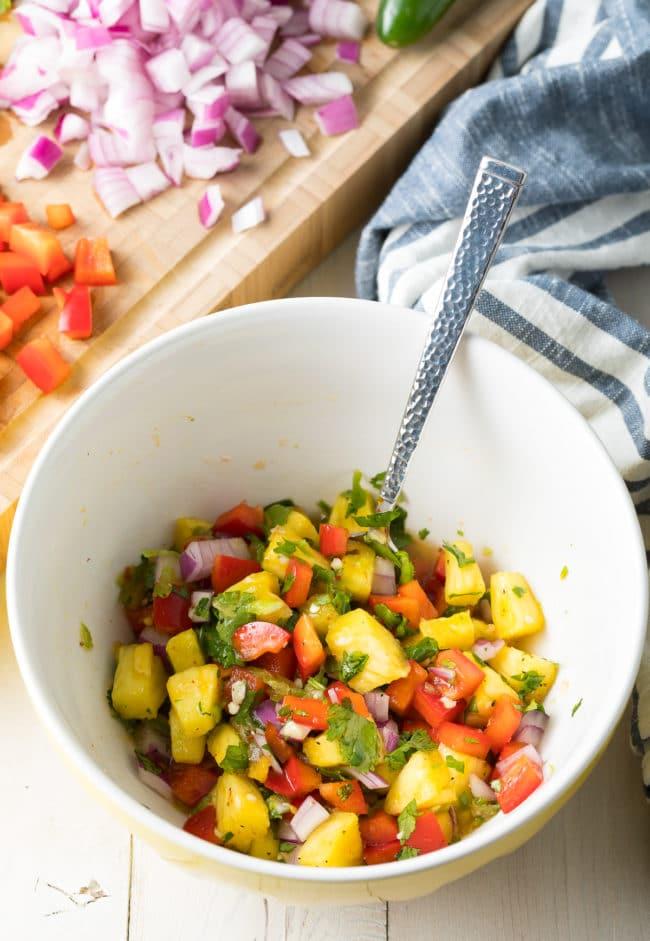 Best Pineapple Salsa Recipe #ASpicyPerspective #healthy #paleo