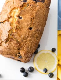 Blueberry Lemon Cream Cheese Pound Cake Recipe #ASpicyPerspective #cake #blueberry #lemon #poundcake