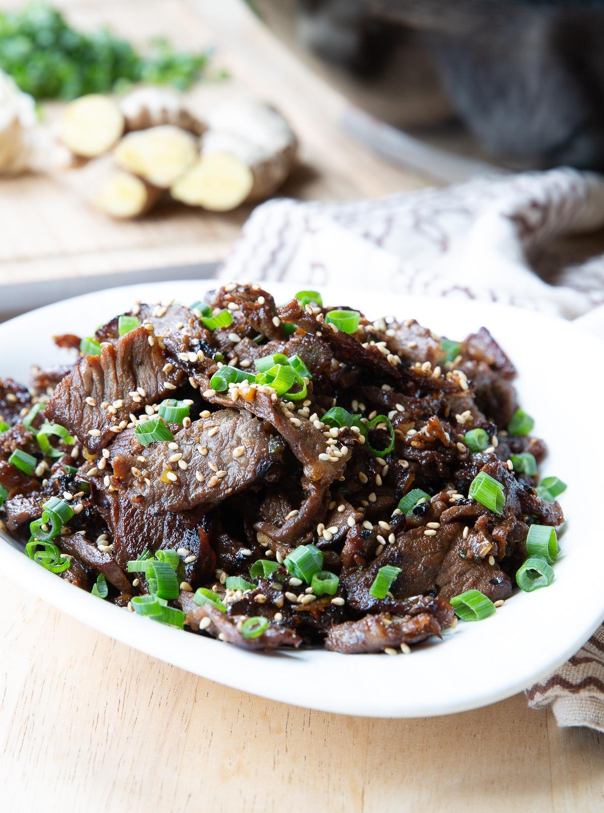 Bulgogi Beef Recipe #ASpicyPerspective #KoreanBBQ #KoreanBBQRecipe #KoreanBeef #Bulgogi #BulgogiRecipe #Beef #BeefBulgogi #Dinner #Asian