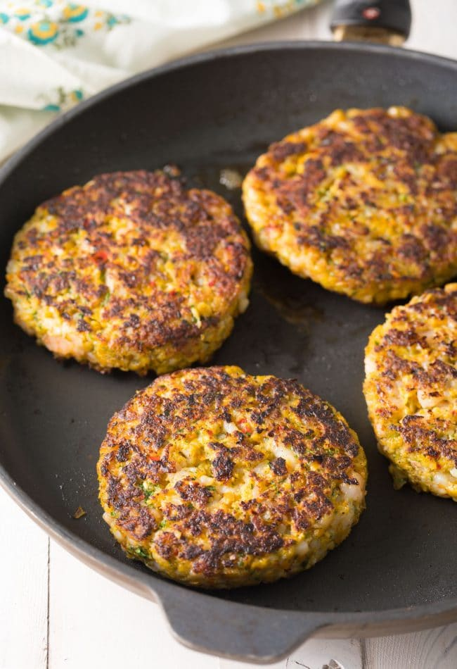 Caribbean Shrimp Patties Recipe #ASpicyPerspective #summer #shrimp #hamburger #burger