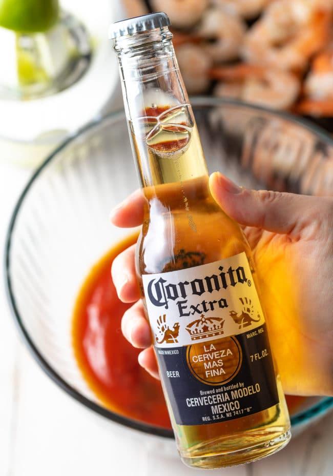 Mexican Shrimp Cocktail Sauce Recipe #ASpicyPerspective #lowcarb #shrimp #cocktailsauce #party #appetizer #michelada