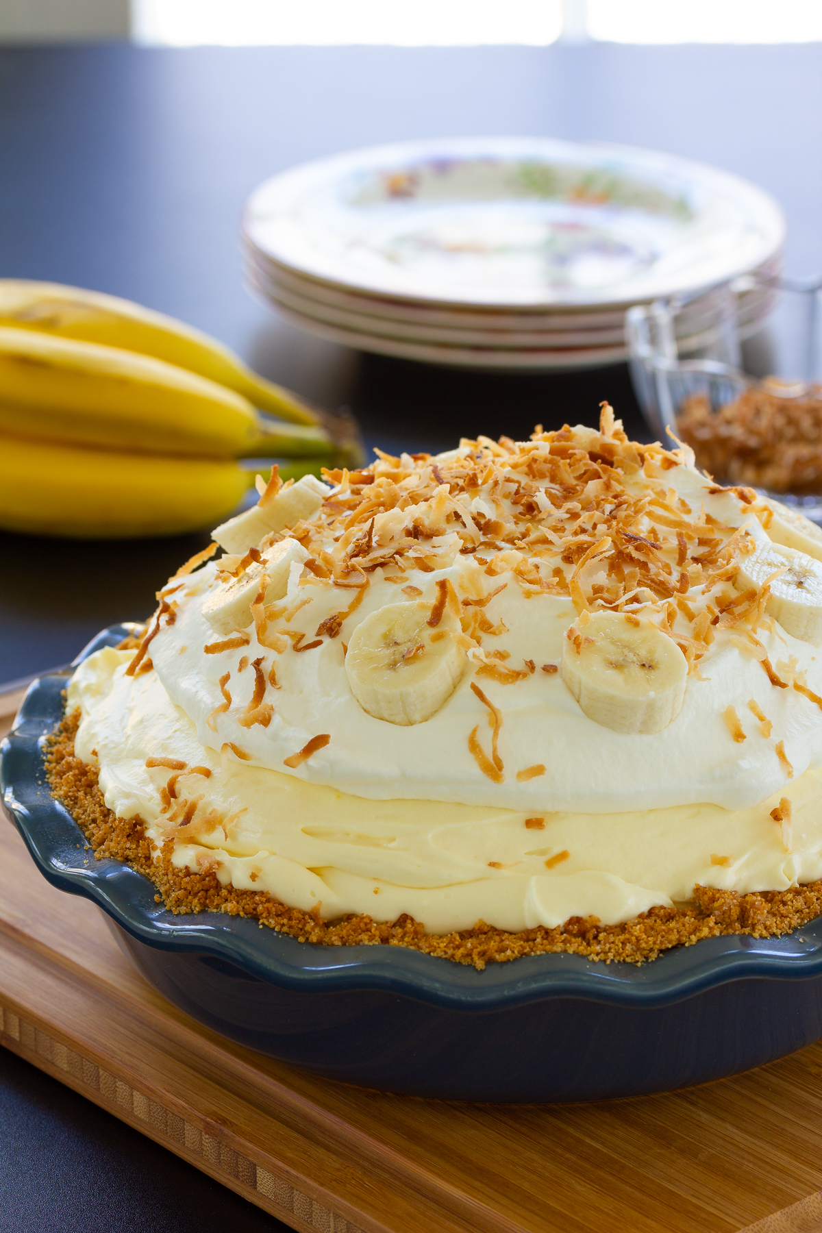 fluffy banana pie