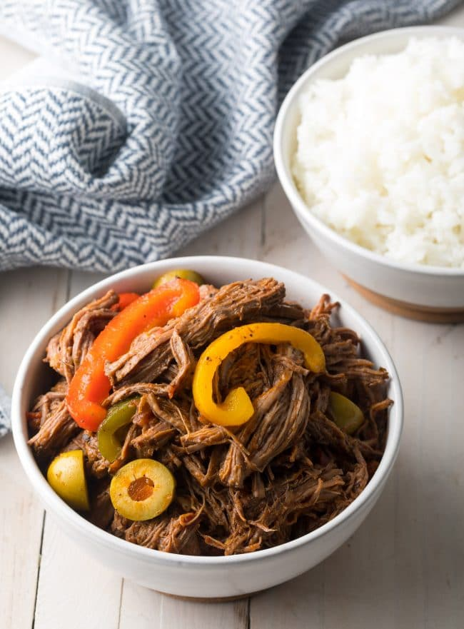 Authentic Ropa Vieja (Cuban Beef Recipe) #ASpicyPerspective #paleo #keto #glutenfree #lowcarb #cuban #beef