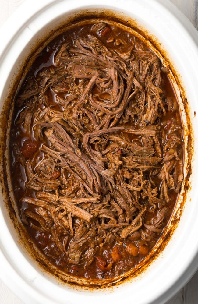 Best Crockpot Ropa Vieja (Cuban Beef Recipe) #ASpicyPerspective #paleo #keto #glutenfree #lowcarb #cuban #beef
