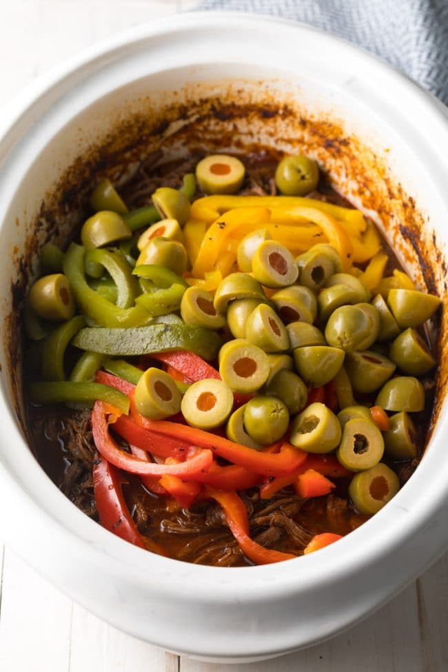 Ropa Vieja with Peppers and Olives (Cuban Beef Recipe) #ASpicyPerspective #paleo #keto #glutenfree #lowcarb #cuban #beef