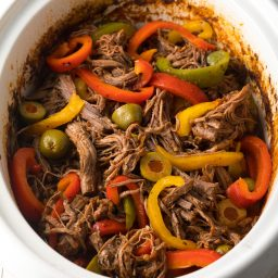Slow Cooker Ropa Vieja (Cuban Beef Recipe) #ASpicyPerspective #paleo #keto #glutenfree #lowcarb #cuban #beef