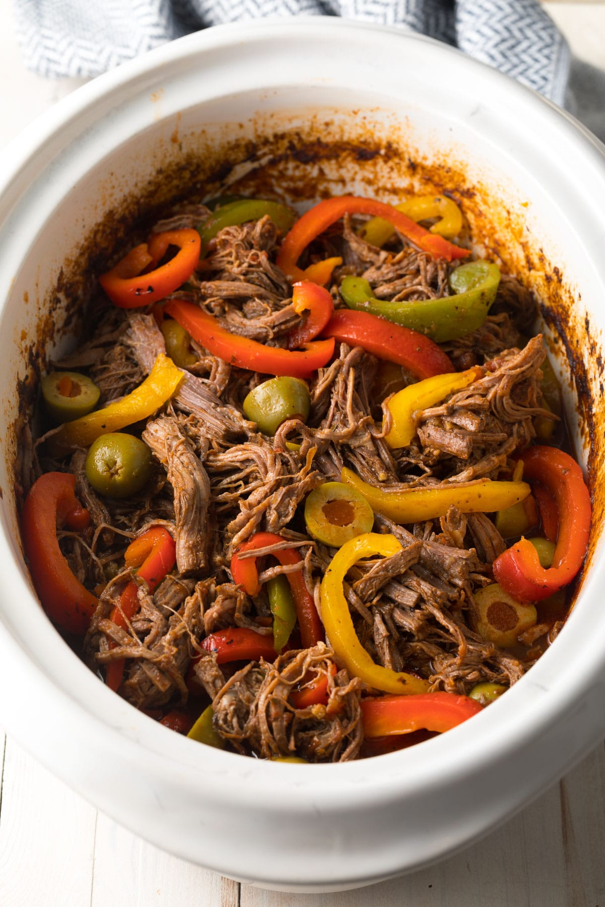 Slow Cooker Ropa Vieja Cuban Beef Video A Spicy Perspective