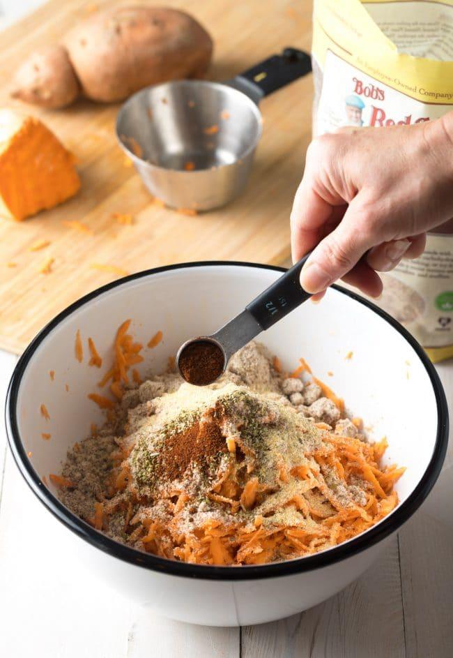 How To Make Sweet Potato Hash Browns Recipe #ASpicyPerspective #paleo #whole30 #glutenfree