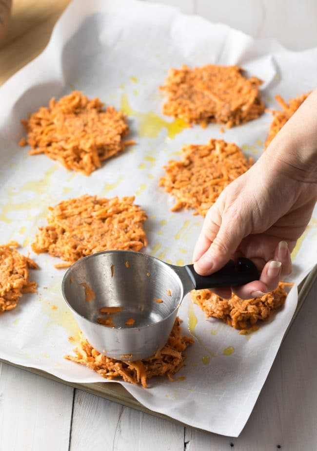 Paleo Baked Hash Browns Recipe #ASpicyPerspective #paleo #whole30 #glutenfree