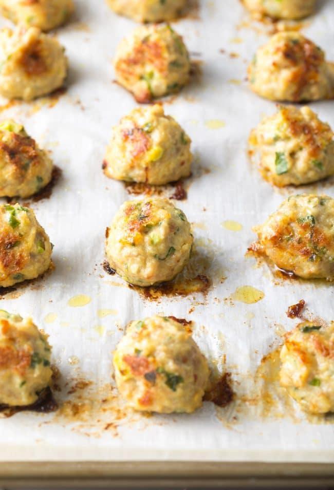 Paleo Thai Baked Turkey Meatballs Recipe #ASpicyPerspective #whole30 #paleo #keto #glutenfree #turkey #chicken #thai