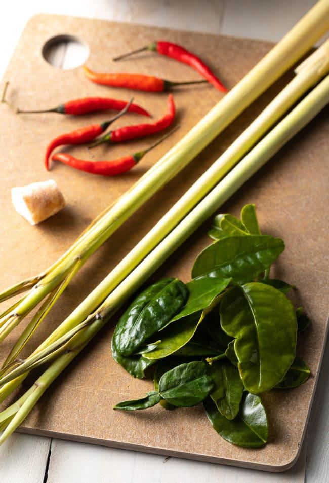 Tom Yum Soup Recipe Ingredients #ASpicyPerspective #thai #healthy #lowcarb #shrimp