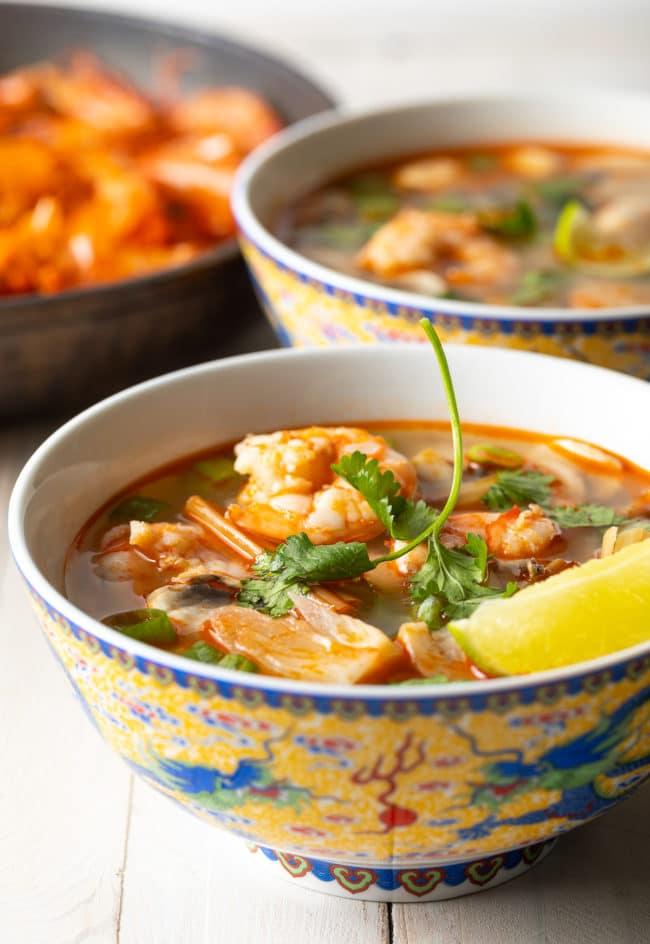 Tom Yum Goong Soup Recipe #ASpicyPerspective #thai #healthy #lowcarb #shrimp