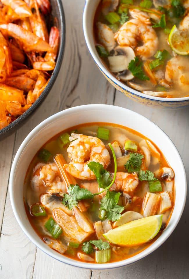 Tom Yum Kung Soup Recipe #ASpicyPerspective #thai #healthy #lowcarb #shrimp