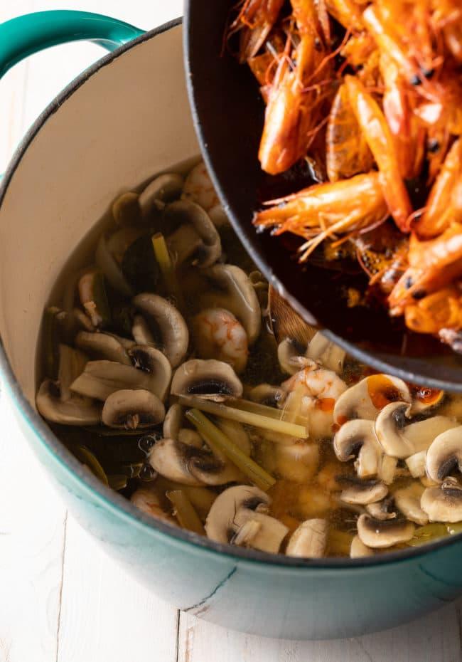 Simple Tom Yum Soup Recipe #ASpicyPerspective #thai #healthy #lowcarb #shrimp
