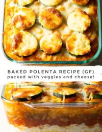 Easy Baked Polenta Recipe + Mushrooms, Tomatoes, Zucchini, and Ricotta! (Gluten Free) #ASpicyPerspective #glutenfree #polenta #lasagna #ricotta