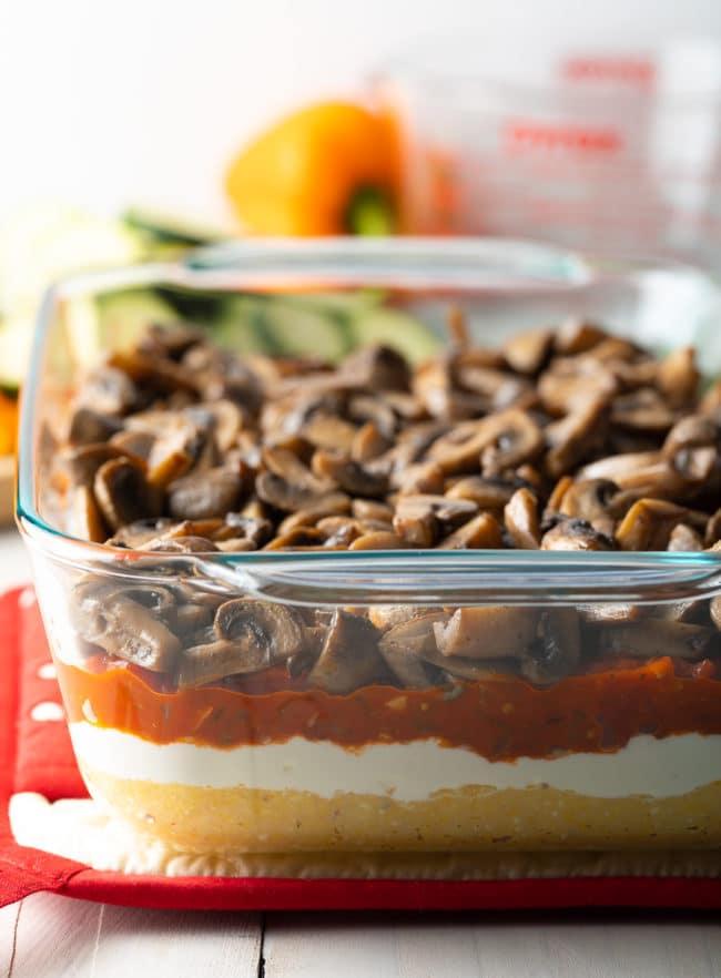 Best Baked Polenta Recipe (Gluten Free) #ASpicyPerspective #glutenfree #polenta #lasagna #ricotta #vegetarian #healthy