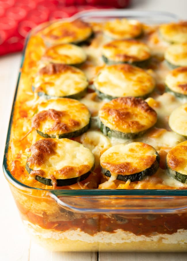 Vegetarian Polenta Recipe (Gluten Free) #ASpicyPerspective #glutenfree #polenta #lasagna #ricotta #vegetarian #healthy