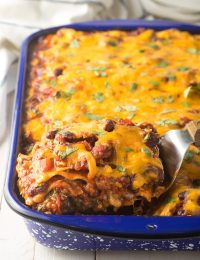 Zesty Cowboy Chili Lasagna Recipe #ASpicyPerspective #lasagna #cowboy #chili